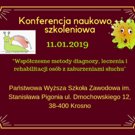 Konferencja naukowo – szkoleniowa 11-01-2019