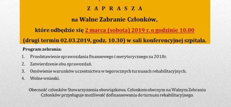 Walne zebranie – marzec 2019