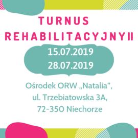 TURNUS REHABILITACYJNY II – 2019