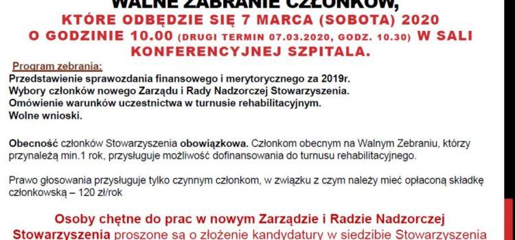 Walne zebranie – marzec 2020